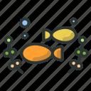 farm, fish, fishery, seaweed icon