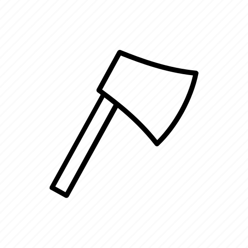 axe, cut, equipment, tool, work icon