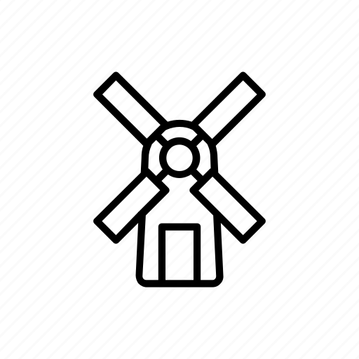 agriculture, farm, farming, garden, windmill icon