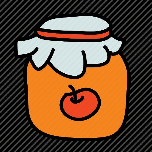 apple, buy, farm, jam, jar, product, sell icon