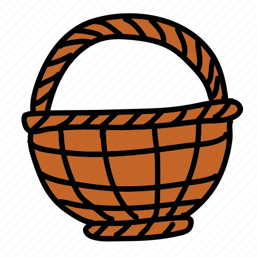 basket, egg, farm, flower, fruit, harvest icon