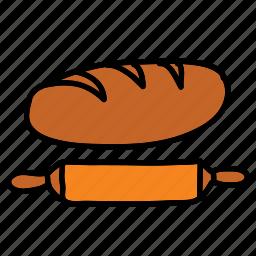 bread, farm, food, nature, pin, rolling icon