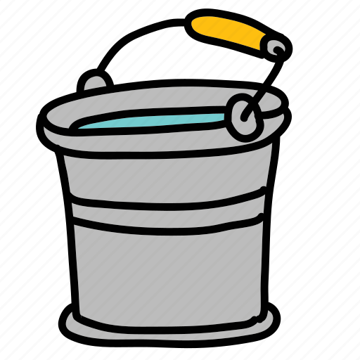 bucket, collect, farm, metal, nature, tin, water icon