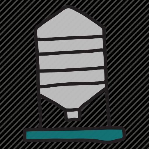 compost, container, farm, metal, silo, tin icon
