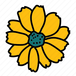 beauty, color, farm, field, flower icon