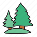 farm, forest, park, tree, trees icon