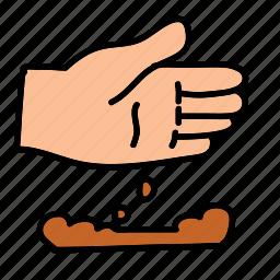 dig, farm, hand, plant, planting, soil icon