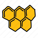 bees, comb, farm, food, honey, sweet icon