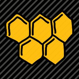 bees, comb, farm, food, honey, sweet icon