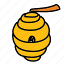 bees, comb, farm, hive, home, honey, sweet icon