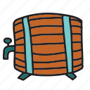 drink, farm, keg, tab, wine, wood icon