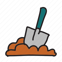 dig, digging, farm, plant, planting, shovel icon