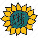 farm, flower, nature, summer, sun icon