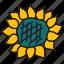 farm, flower, nature, summer, sun icon