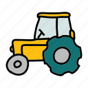 equipment, farm, farming, harvest, tires, tractor, vehicle icon
