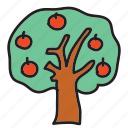 apple, farm, fruit, nature, tree icon