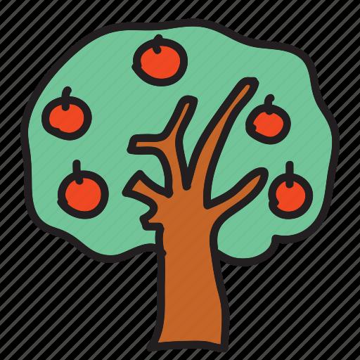 apple, farm, fruit, nature, tree icon