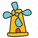 energy, farm, mill, nature, spin, wind, windmill icon