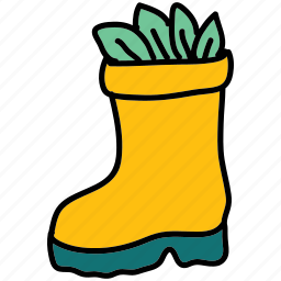 boot, farm, leaves, shoes, wear icon