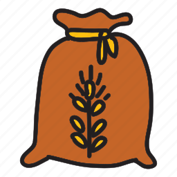 bag, farm, harvest, nature, product, wheat icon