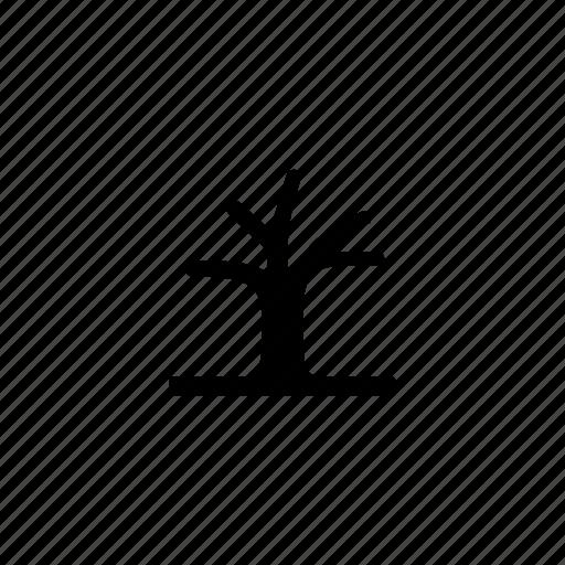 deciduous, nature, trees, winter icon