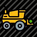 harvester, farm, farming, heavy, machine, vehicle