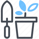 farming, flower, gardening, plant, pot, tools icon