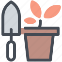 plant, pot, tools, flower, farming, gardening icon