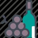 bottel, farmer, fruit, grapes, harvest, wine, winemaker icon