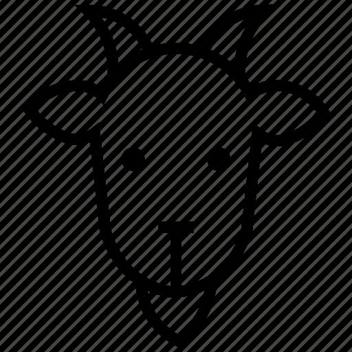 animal, farming, goat, goats, mutton, ram animal, sheep icon