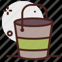 agriculture, bucket, gardening, landscape icon