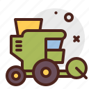 agriculture, combine, gardening, landscape icon
