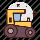 agriculture, crawler, gardening, landscape icon