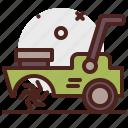 agriculture, gardening, land, landscape, machine icon
