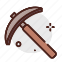 agriculture, gardening, landscape, pickaxe icon