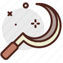 agriculture, gardening, landscape, reaper icon