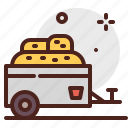 agriculture, gardening, tow, landscape icon