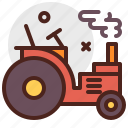 agriculture, gardening, landscape, tractor