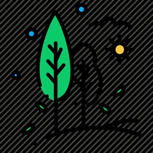 nature, tree, trees, village icon