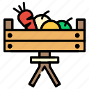 basket, fruits, vegetable icon