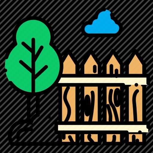 boundries, garden, village icon