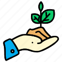 hand, in, nature, plant, plants icon