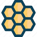 bee, beehive, farming, honey comb icon
