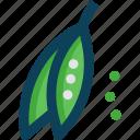 farm, farming, peas icon