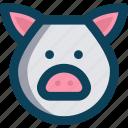 agriculture, animal, farm, pig icon