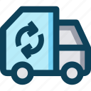 farm, recycle, transportation, truck icon