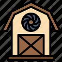 barn, buildings, farm, gardening, home icon