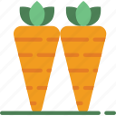 agriculture, carrots, farm, farming icon