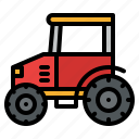 farm, farming, tractor, vehicle icon