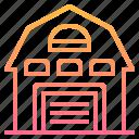 architecture, barn, building, house, villa icon